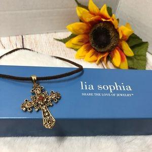 Lia Sophia Cross Necklace